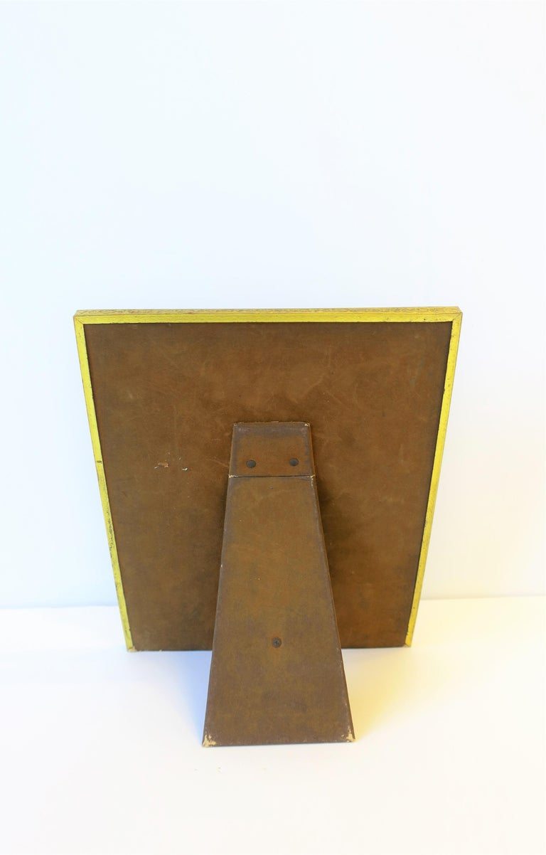 Brass and Glass Picture Frame For Sale 3