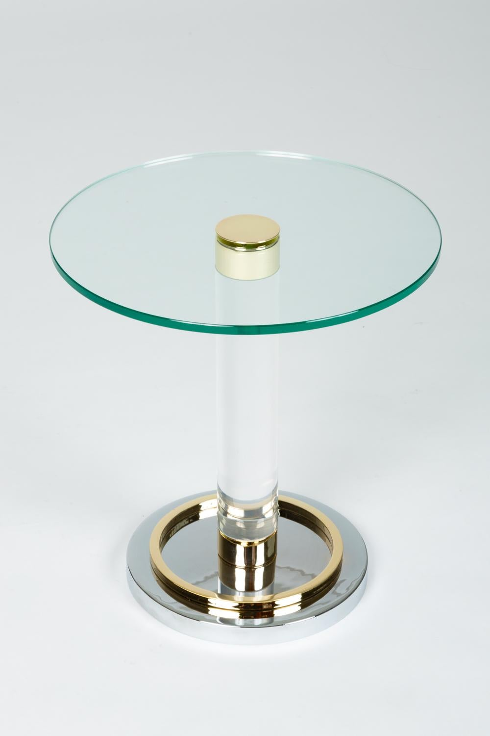 Picture of: Brass And Glass Side Table By Charles Hollis Jones At 1stdibs