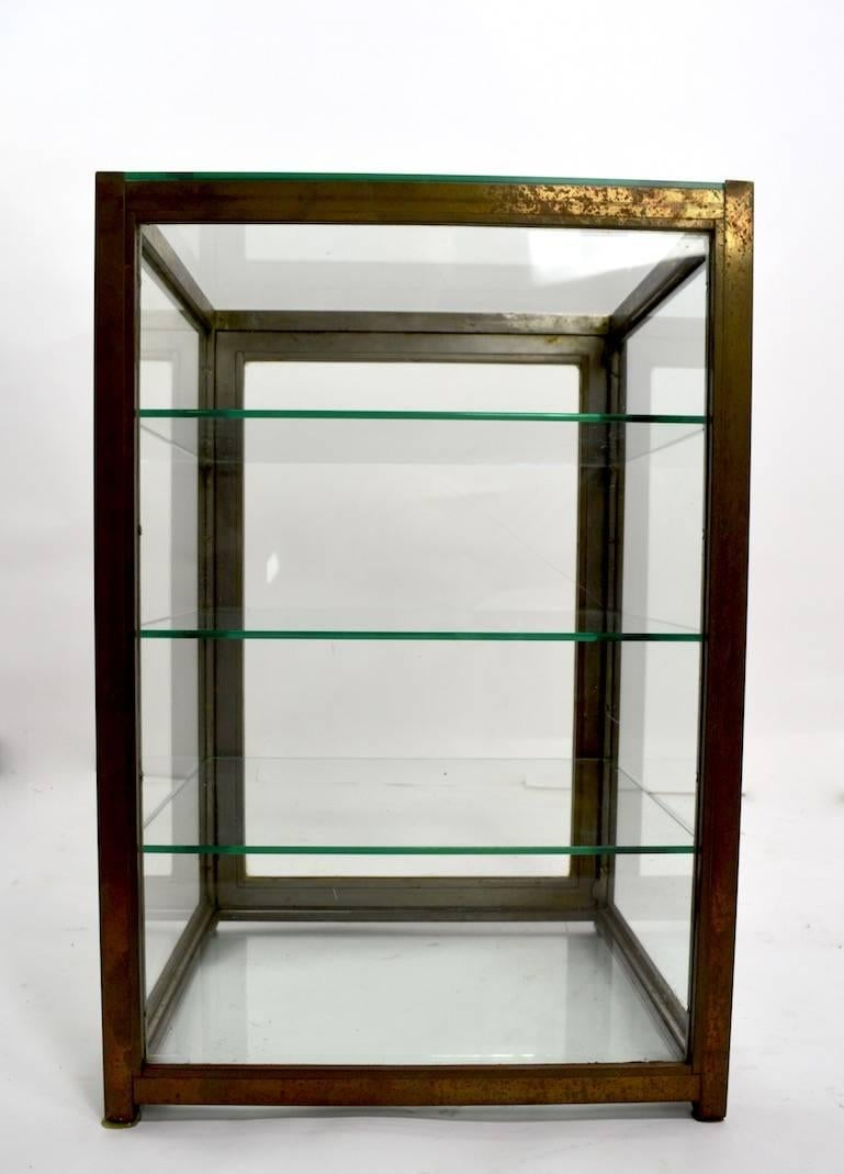 Brass And Glass Specimen Display Showcase For Sale 1