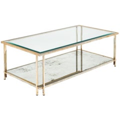 Brass and Glass Vintage Coffee Table