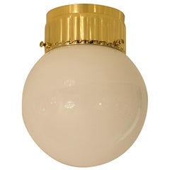 Brass and Glass Wall Lamp, Flushmount Re-Edition Ast3-14