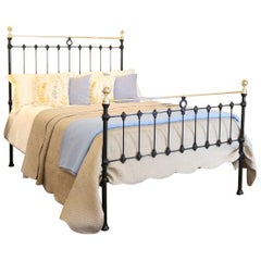 Brass and Iron Bed in Black, MK181