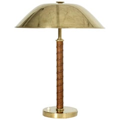 Brass and Leather Table Lamp from NK