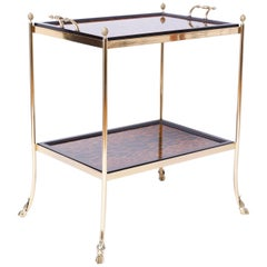 Brass and Leopard Print Server or Bar