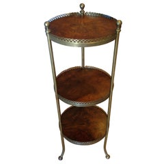 Brass and Mahogany Étagère