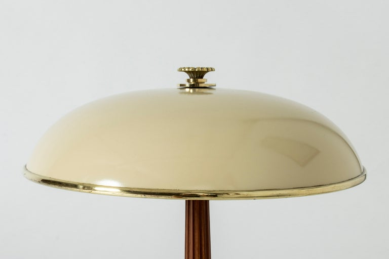 Scandinavian Brass and Mahogany Table Lamps from Böhlmarks For Sale