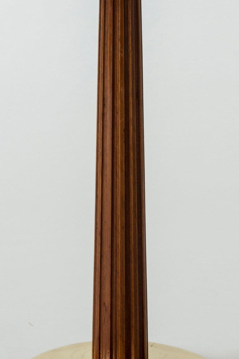 Mid-20th Century Brass and Mahogany Table Lamps from Böhlmarks For Sale