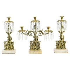 Brass and Marble Girondoles