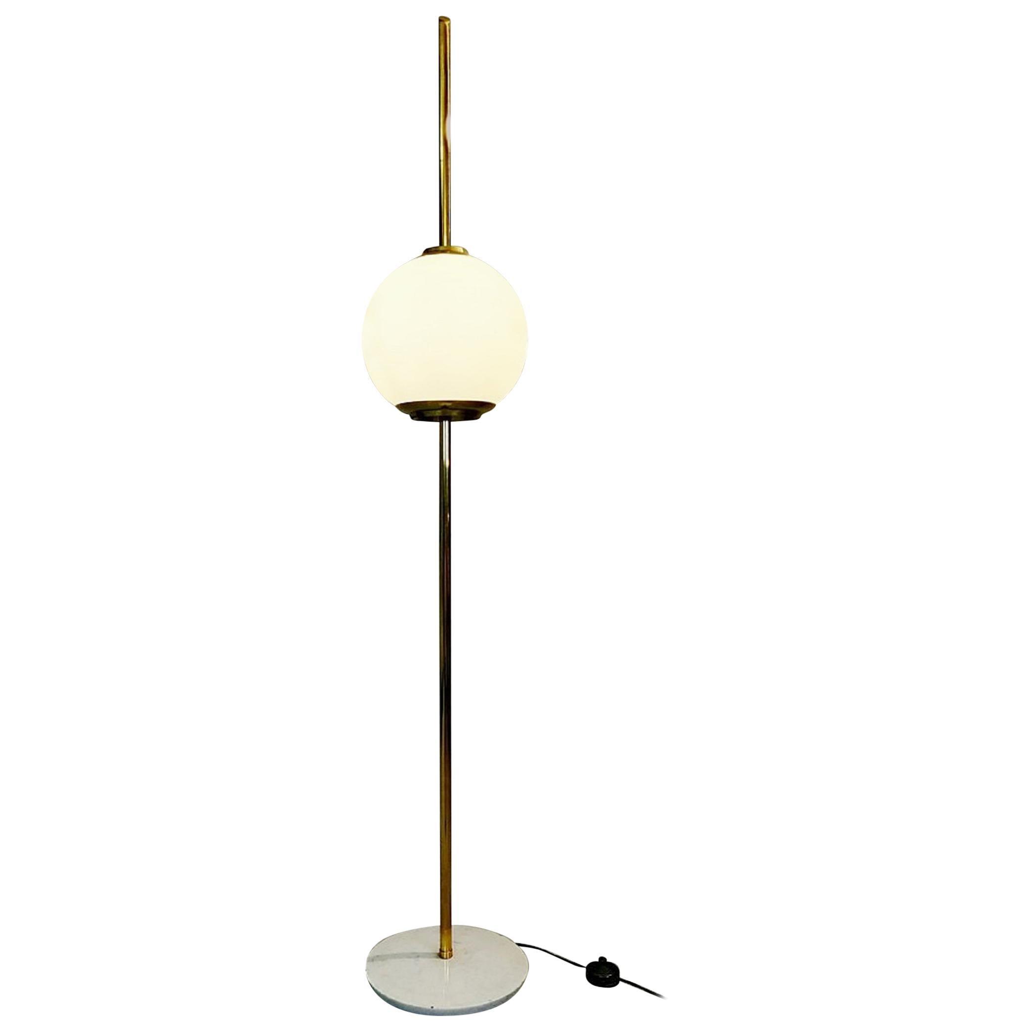 Brass and Marble Italian Floor Lamp, 1960s