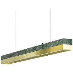 Brass and Marble Pendant Light, Minimalist Contemporary Table Light