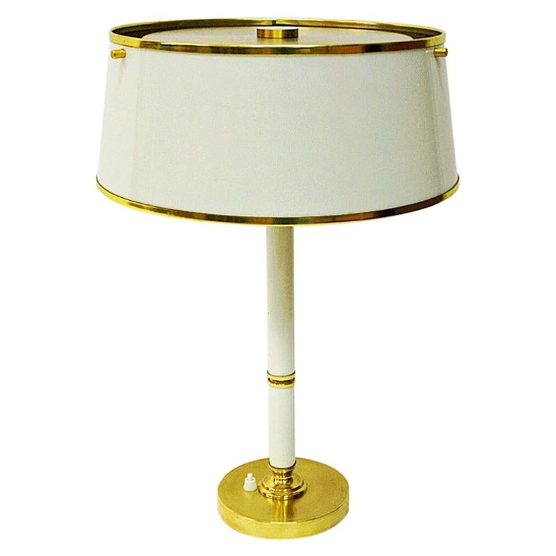 Brass and Metal Table Lamp by Borèns, Borås, 1960s, Sweden