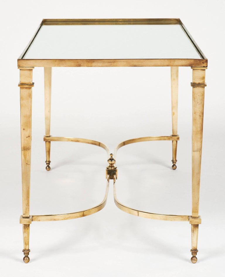 Brass And Mirror Art Deco Coffee Table For Sale At 1stdibs