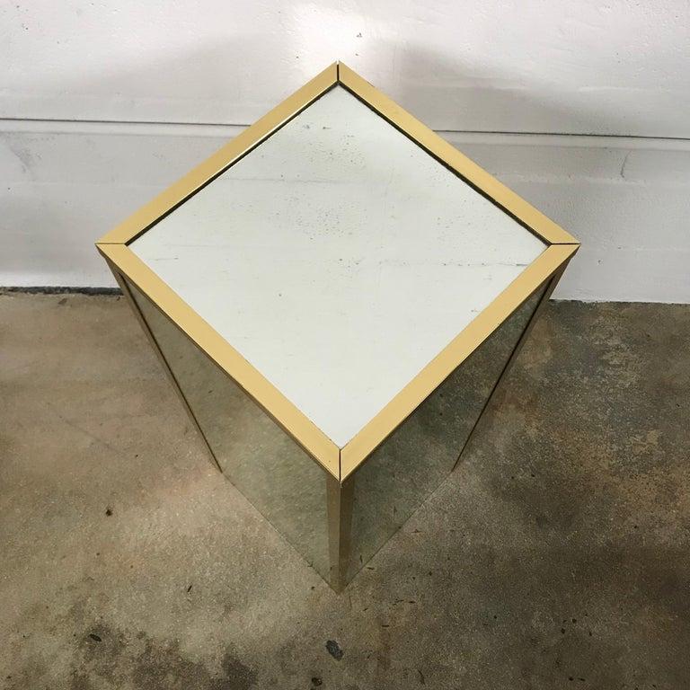 Brass and Mirror Pedestal  4