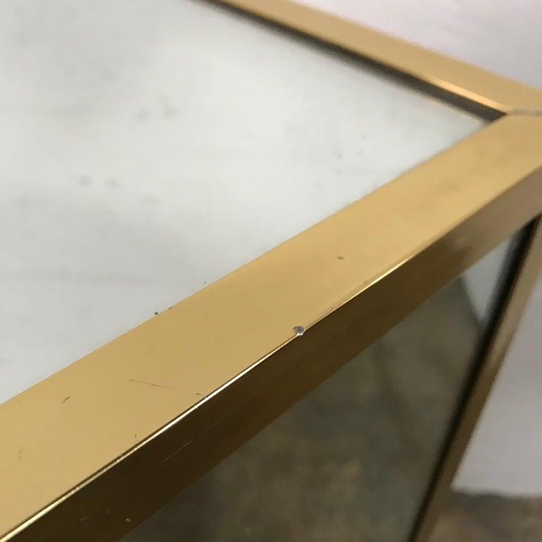 Brass and Mirror Pedestal  5