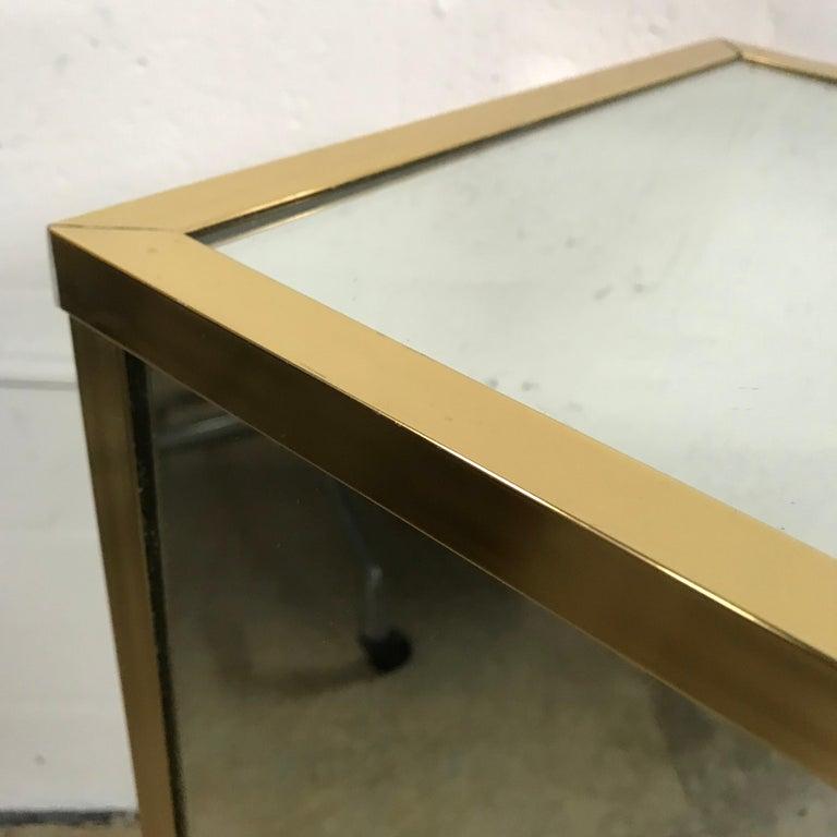Brass and Mirror Pedestal  6