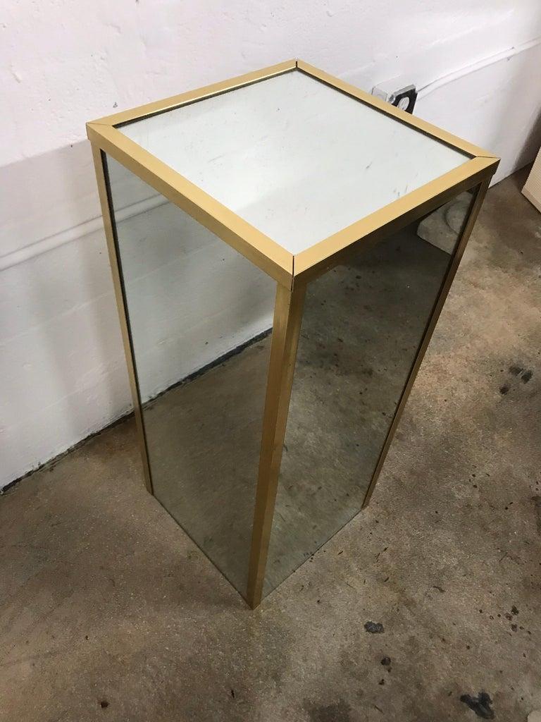 Brass and Mirror Pedestal  1