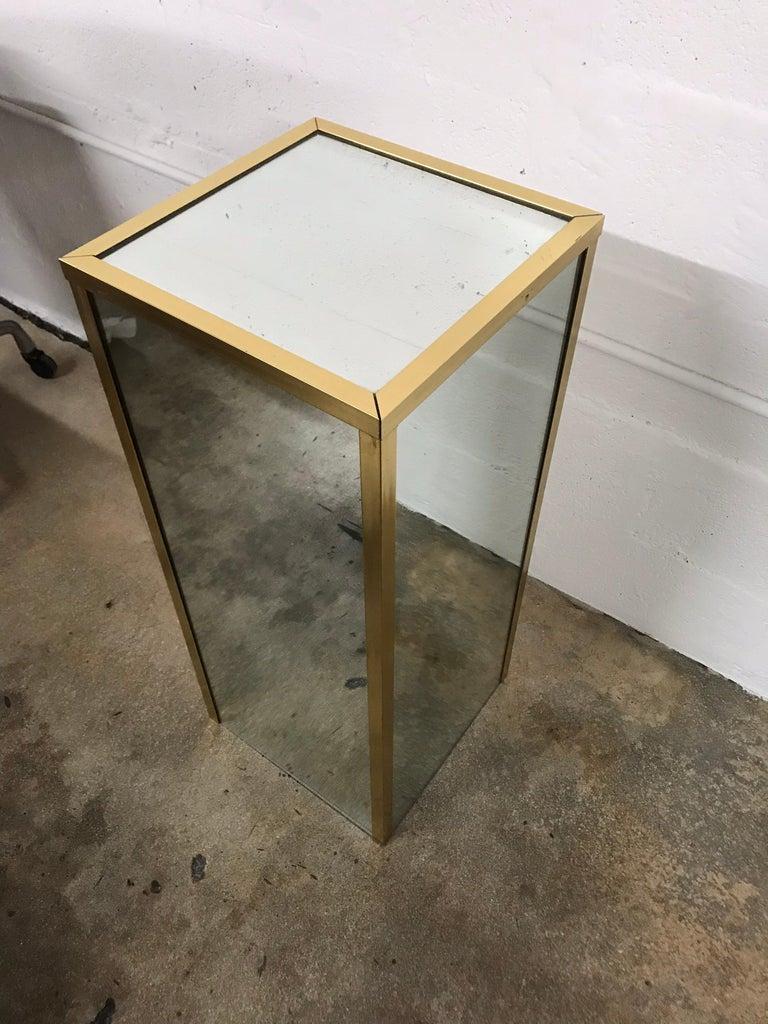 Brass and Mirror Pedestal  2
