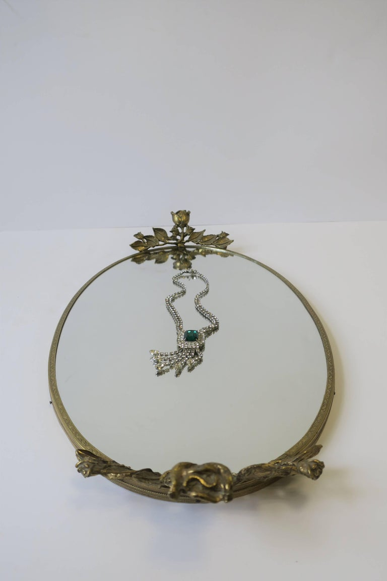 Brass and Mirror Vanity Tray, ca. 1960s For Sale 6