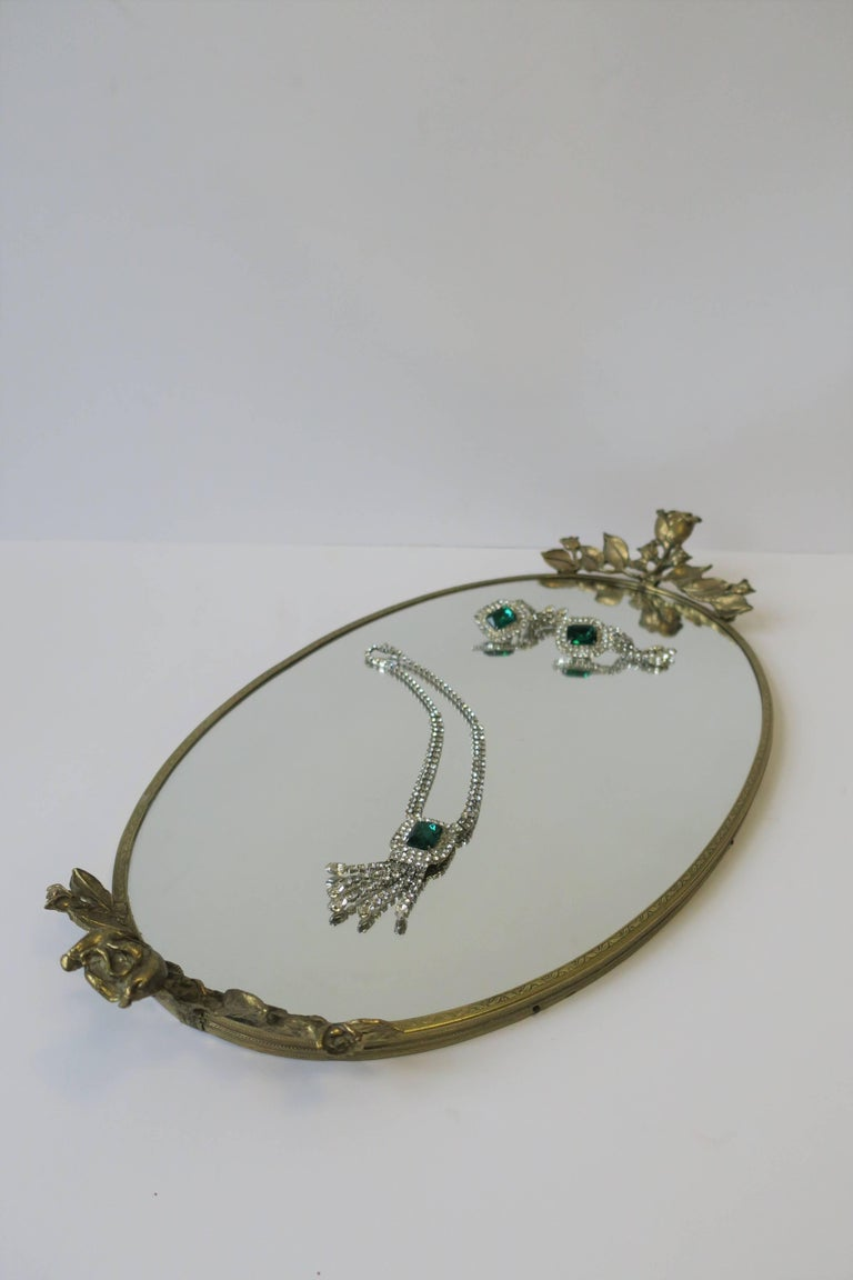 Brass and Mirror Vanity Tray, ca. 1960s For Sale 7