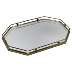 Brass and Mirrored Vanity Tray, circa 1960