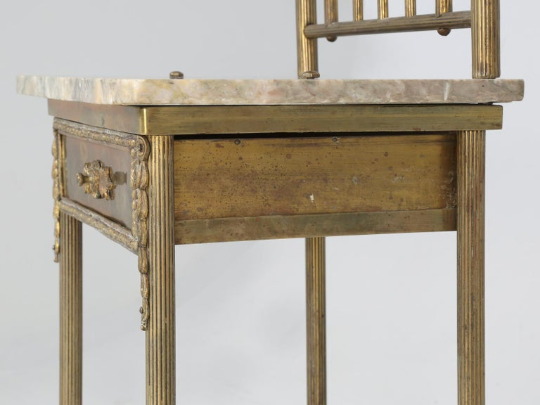 Brass and Onyx Nightstand For Sale 6