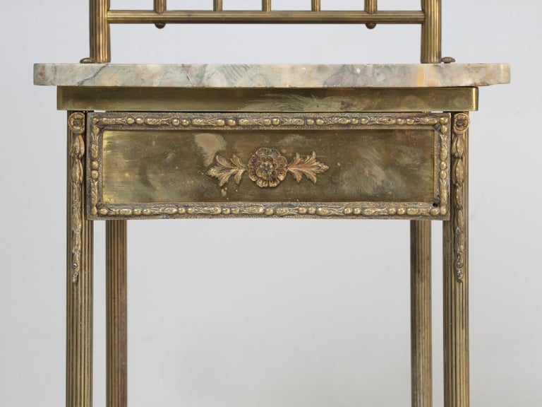 Brass and Onyx Nightstand For Sale 7