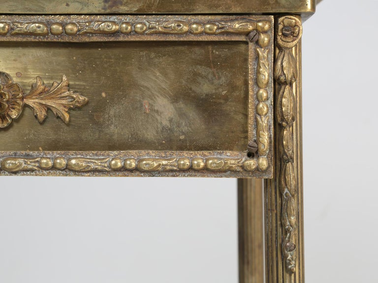 Brass and Onyx Nightstand For Sale 8