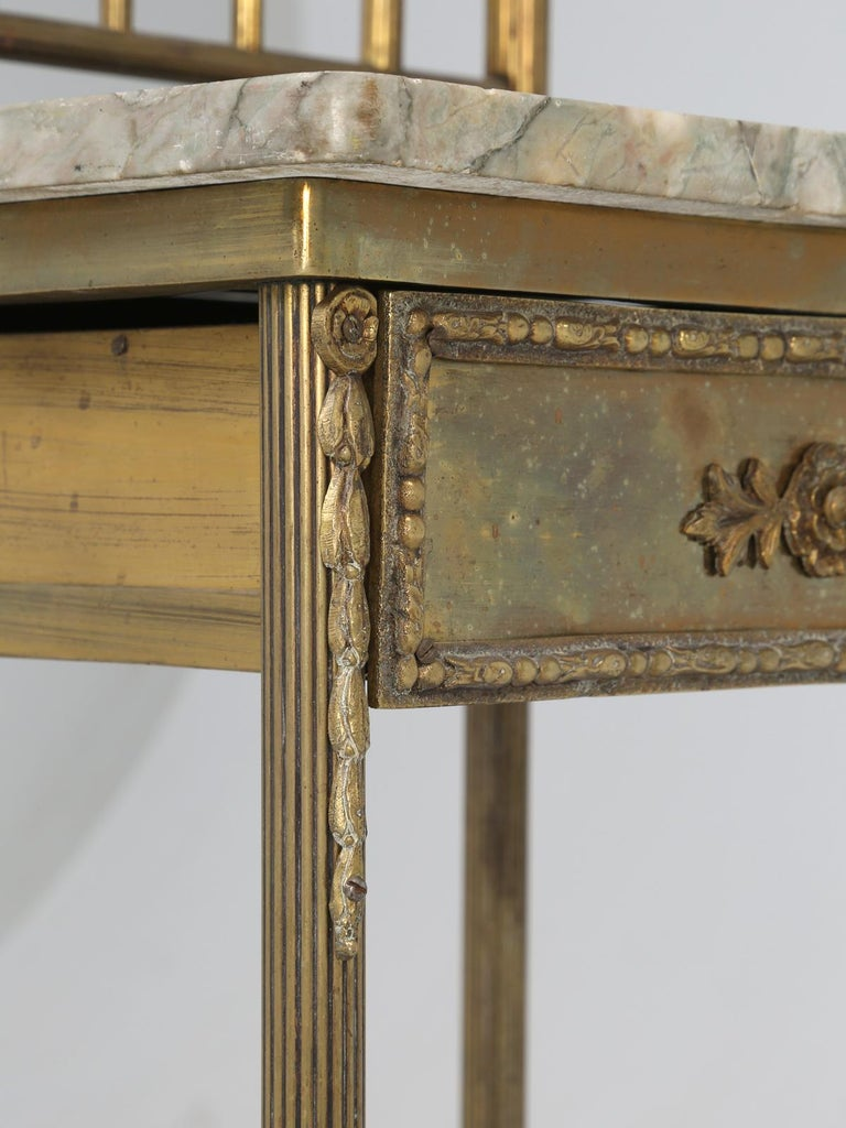 Brass and Onyx Nightstand For Sale 11