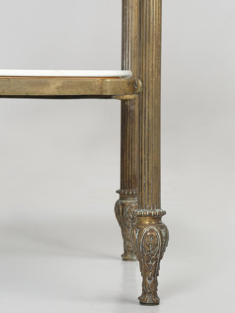Brass and Onyx Nightstand For Sale 13