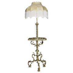 Brass and Onyx Standard Lamp
