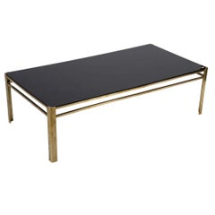 French 1970's Brass and Opaline Coffee Table