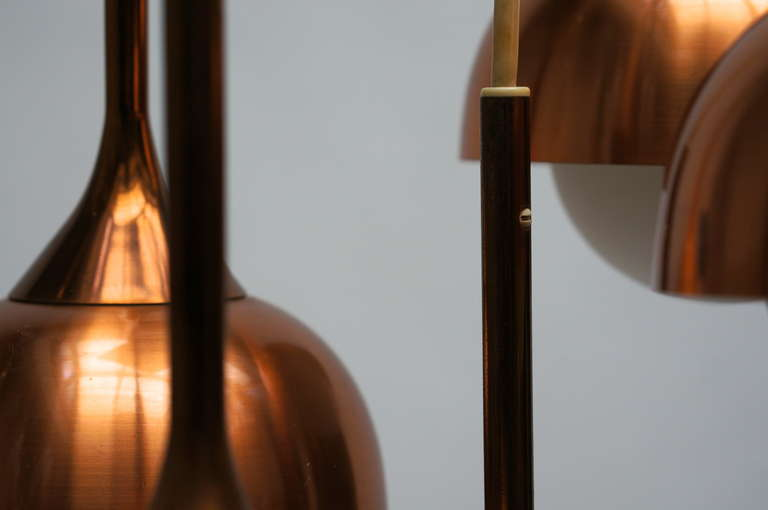 Brass and Opaline Glass Pendant Light For Sale 2