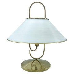 Brass and Pespex Handle Table Lamp, Italy, 1950s