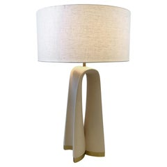 Brass and Sculpted Plaster Table Lamp by Boyd Lighting