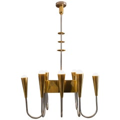Brass and Silver Chandelier