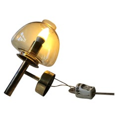 Brass and Smoke Glass Sconce by Hans Agne Jakobsson, 1960s
