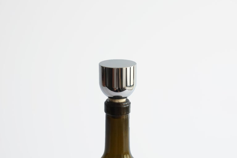 Contemporary Brass and Steel Mass Wine Stoppers by Fort Standard, in Stock For Sale 2