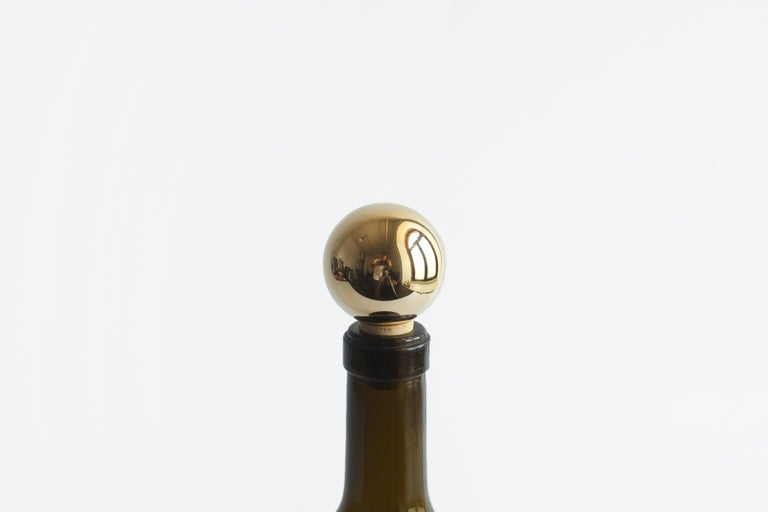 Contemporary Brass and Steel Mass Wine Stoppers by Fort Standard, in Stock For Sale 4