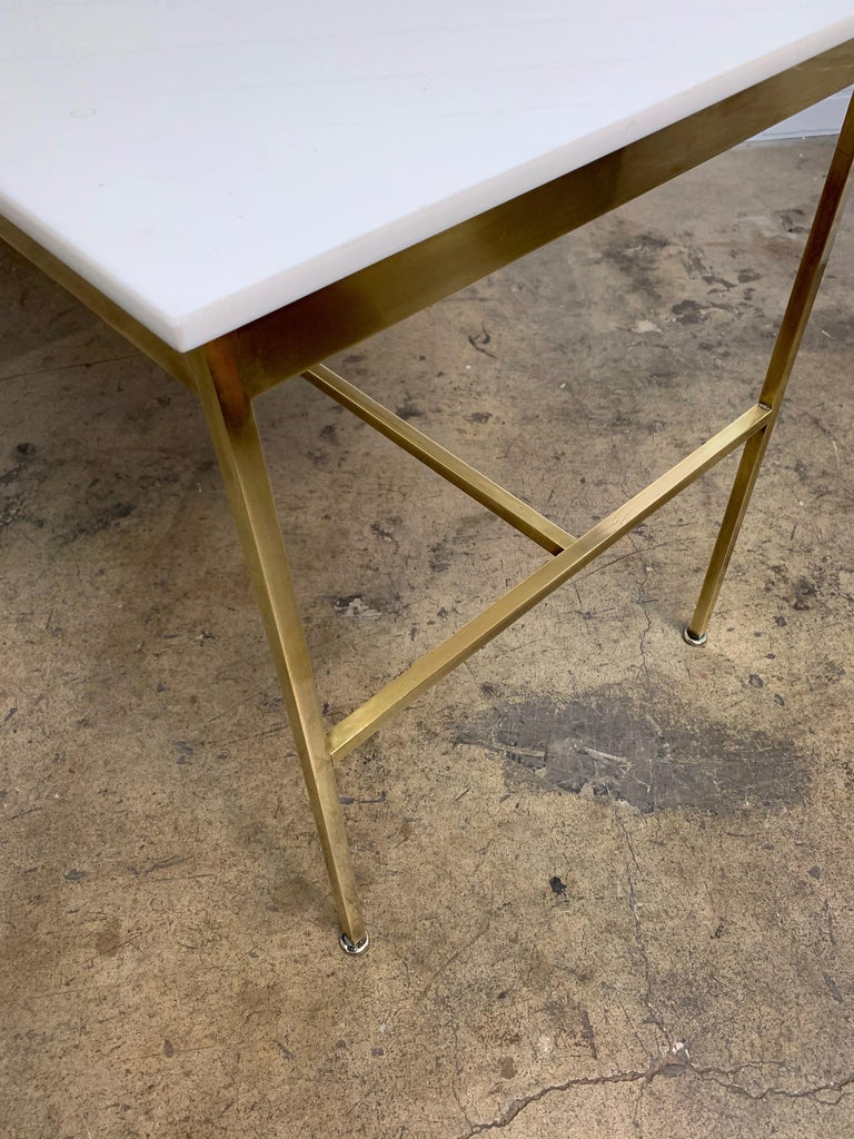 20th Century Brass and Vitrolite Console Table by Paul McCobb For Sale