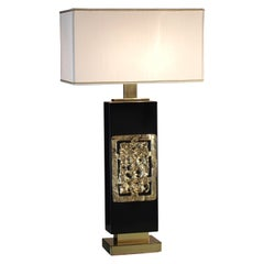 """Brass and Wood """"Diomede"""" Table Lamp"""
