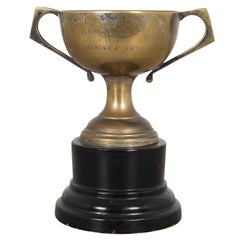 Brass and Wood Loving Cup Trophy, circa 1965
