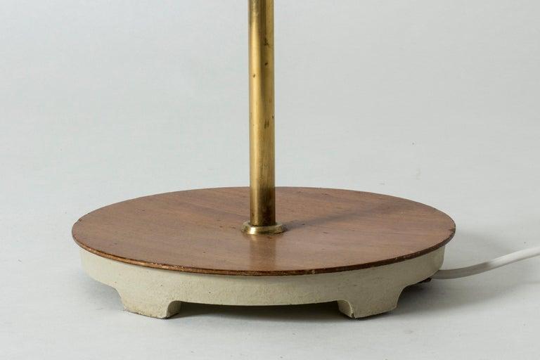 Brass and Wood Swedish Floor Lamp by Bertil Brisborg for Nordiska Kompaniet For Sale 5