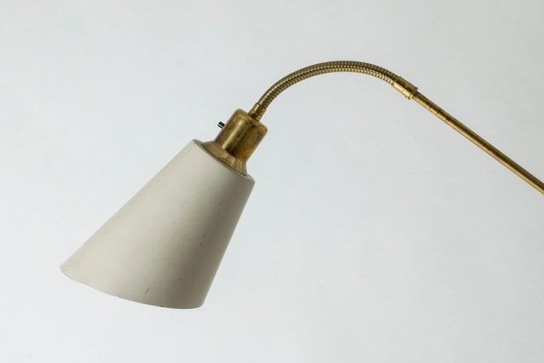 Brass and Wood Swedish Floor Lamp by Bertil Brisborg for Nordiska Kompaniet For Sale 2
