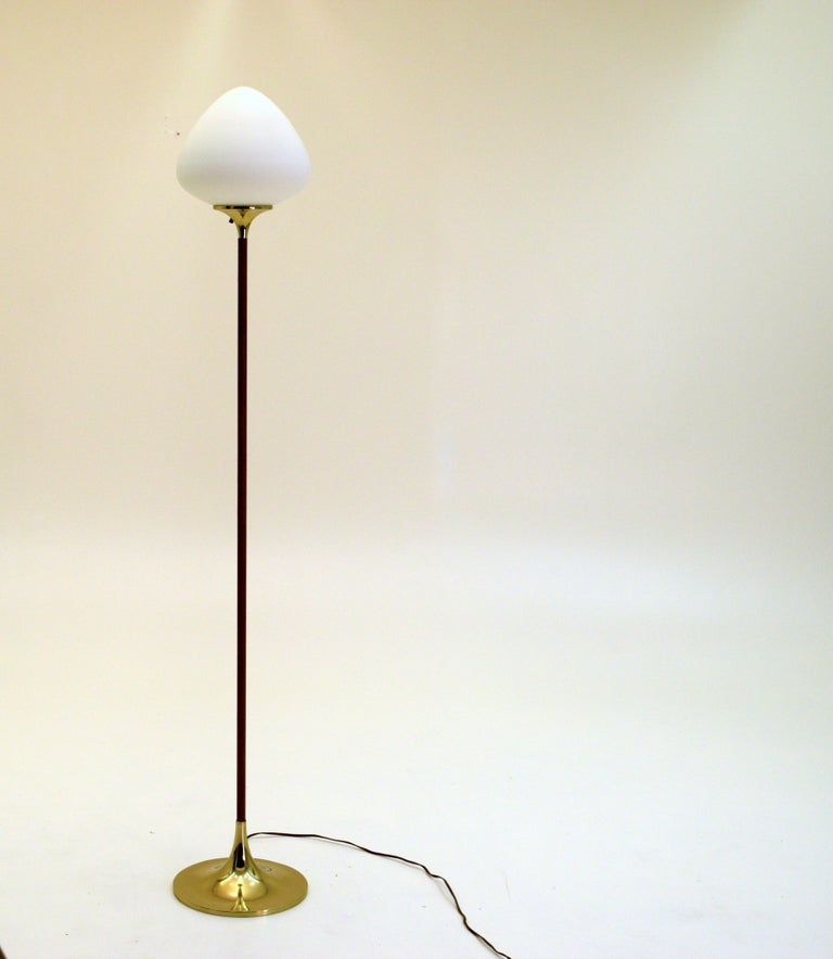 Br And Wood Tear Drop Floor Lamp By Laurel Lighting