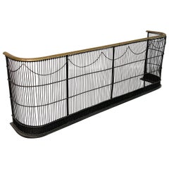 Brass and Wrought Iron Fender Fireplace Screen