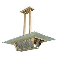 Brass Art Deco Atelier Petitot Ceiling Light