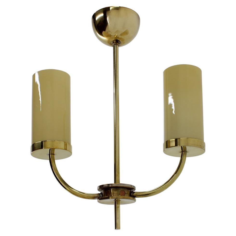 Brass Art Deco Bauhaus Pendant / 1930s