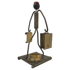 Brass Art Deco Cigarette Valet