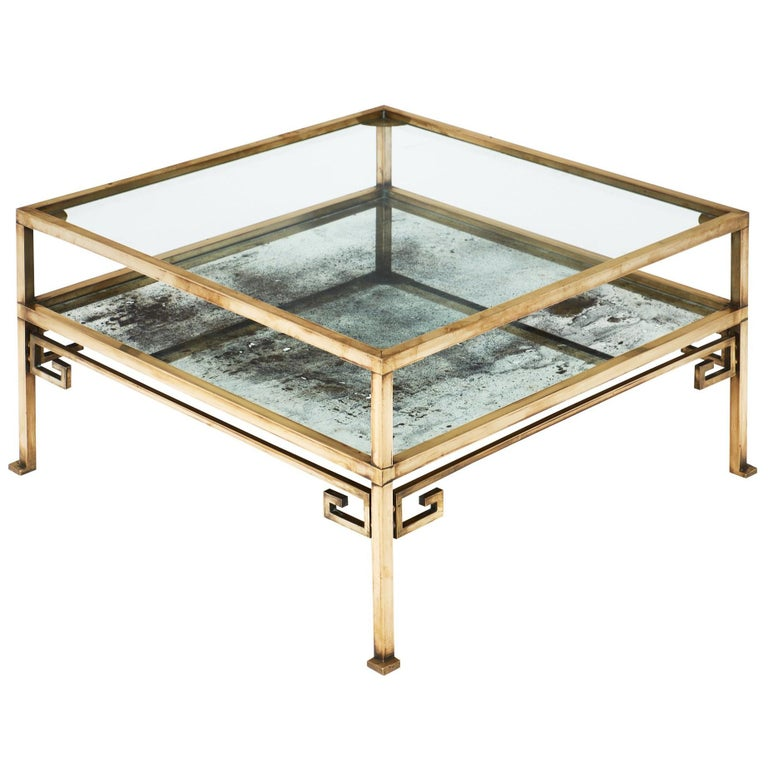 Brass Art Deco French Coffee Table At 1stdibs
