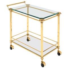 Brass Art Deco Period French Bar Cart